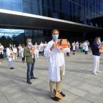 Concentración médica contra la «reforma radical del sistema sanitario»